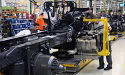 Truck assembly at Scania