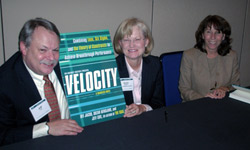 The authors of Velocity: Jeff Cox,   Suzan Bergland and Dee Jacob